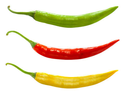 Chili pepper isolated on white background Banco de Imagens