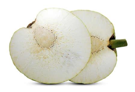 Breadfruit (Artocarpus altilis)isolated on white background Banco de Imagens