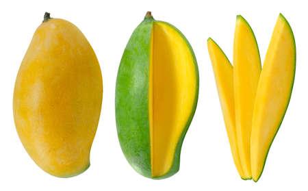 Sweet Mango fruit isolated on white background Banco de Imagens - 152258654