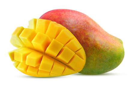 Sweet Mango fruit isolated on white background Banco de Imagens - 152258663