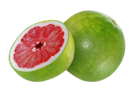 Pomelo or Pummelo fruit isolated on white background Banco de Imagens - 152258671