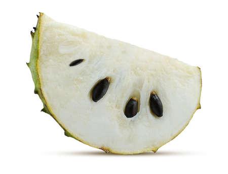 Soursop, Prickly Custard Apple isolated on white Standard-Bild
