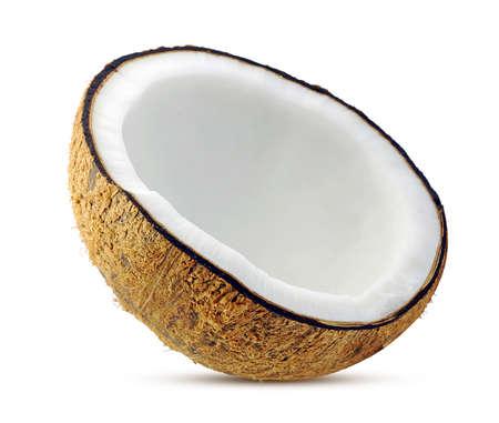 Coconut palm fruit isolated on white background Standard-Bild