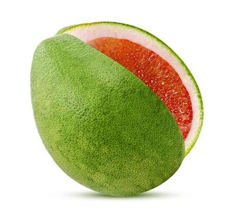 Pomelo or grapefruit isolated on white background
