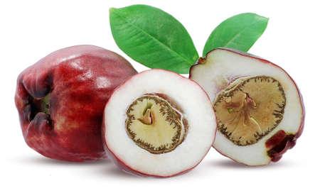 Malay apple fruit isolated on white background