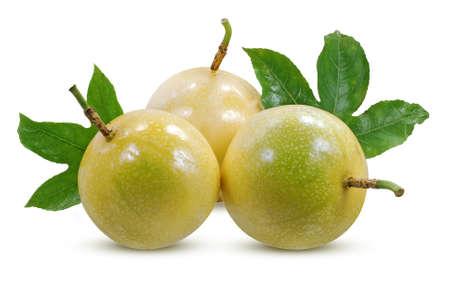 Passion fruits isolated on white background Standard-Bild
