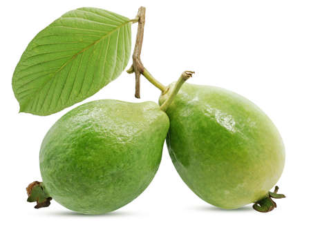 Guava fruits isollated on white background 免版税图像