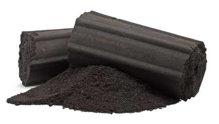 Charcoal or Coal isolated on white background 版權商用圖片