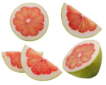 Grapefruit or Pomelo fruit isolated on white