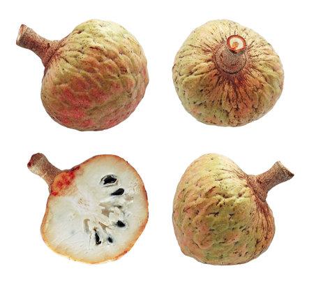Annona or Custard apple isolated on white background 免版税图像