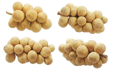 Longkong fruits isolatedon white background
