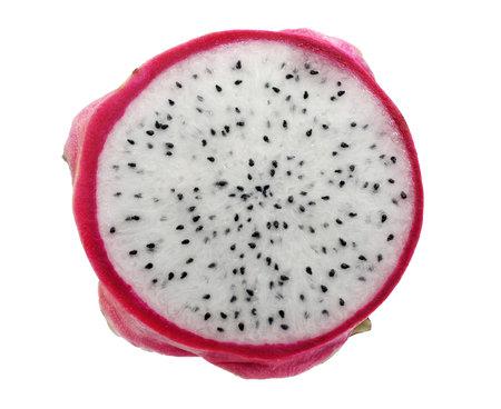 Pitaya or dragon fruit isolated on white background
