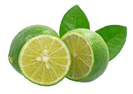 Lime fruits isolated on white background 免版税图像