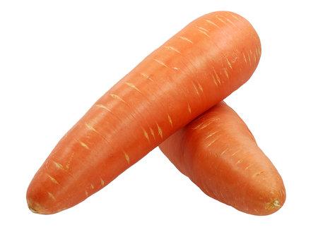 carrot isolated on white background 免版税图像