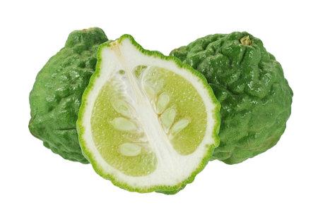 bergamot fruits isolated on white background