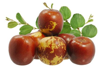 Fresh Jujube fruits isolated on white background