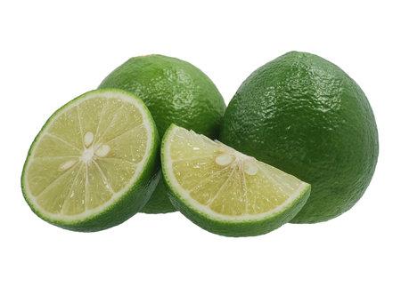 Lime fruits isolated on white background Banco de Imagens