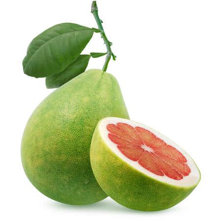 Pomelo or grape fruit isolated on white background 免版税图像