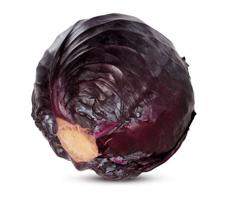 cabbage isolated on white background 免版税图像