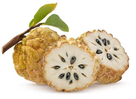 Annona or Custard apple fruit isolated on white background 免版税图像