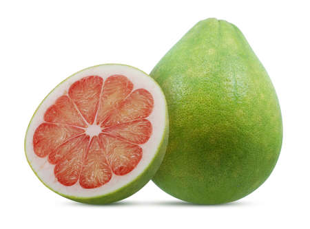 Pomelo or Pummelo fruit isolated on white background