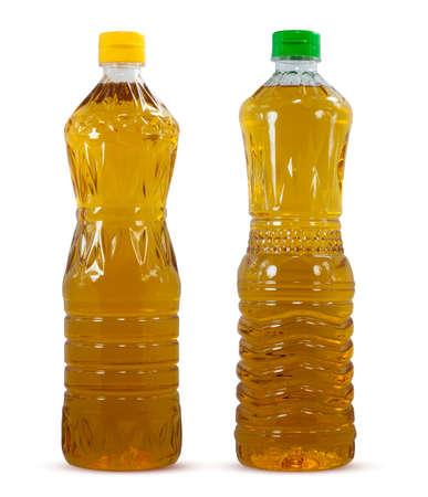 Oil plastic bottle isolated on white background 免版税图像