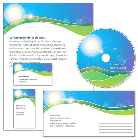 Template for corporate identity  Stock Vector - 18290333