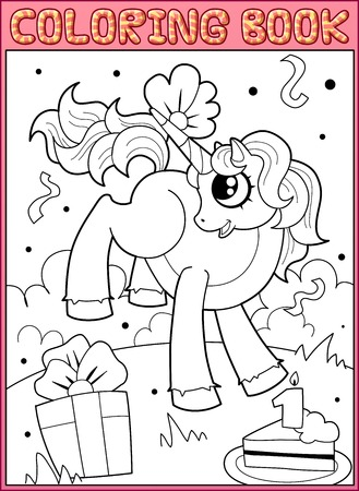 Coloring book page Vector