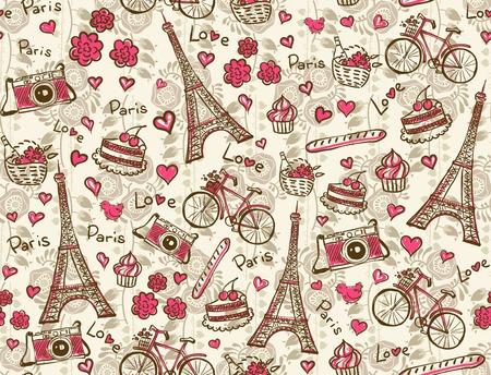 Paris vintage background Ilustracja
