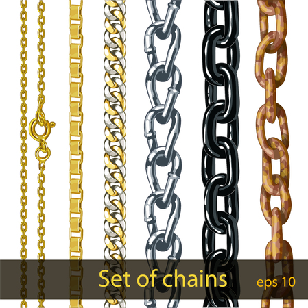 Set of chains.