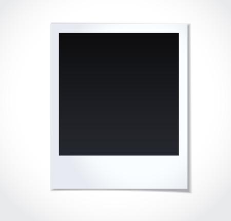 Polaroid photoframe on white background