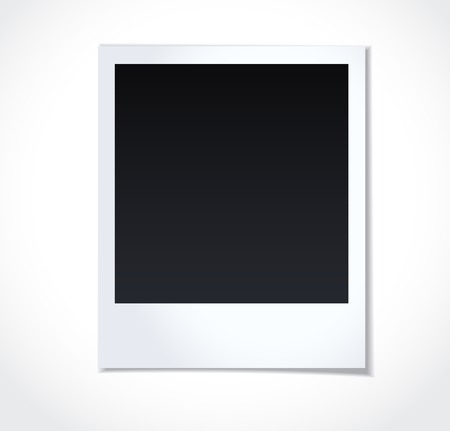 photo icons: Polaroid photoframe on white background