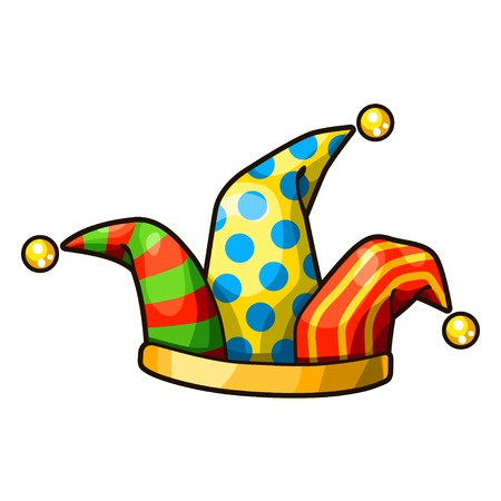 jester hat: Jester hat isolated on white background