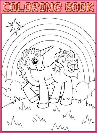 dibujos para colorear: Poco unicornio