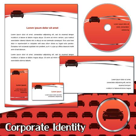 service card: Corporate identity sample for transportation company