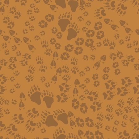 trails: Seamless pattern of animal trails