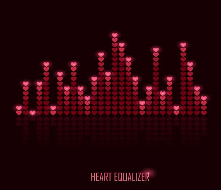Heart equalizer Vector
