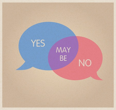 yes no: Decision symbol. Yes, no, maybe.