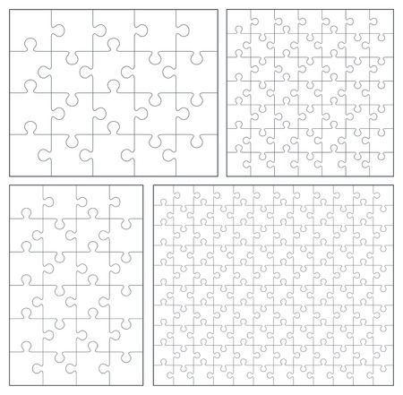 Puzzle set 20, 24, 49, 120 pieces 矢量图像