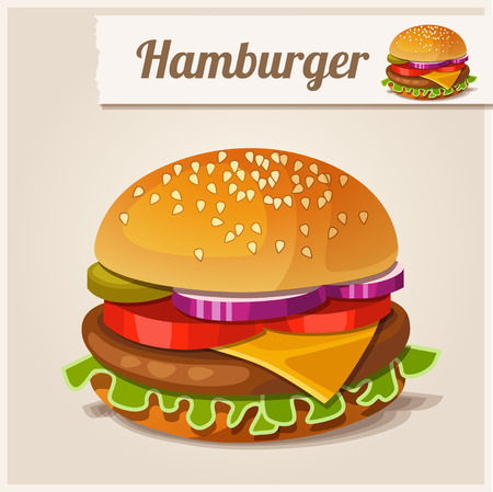 hamburger: Detailed Icon. Hamburger.