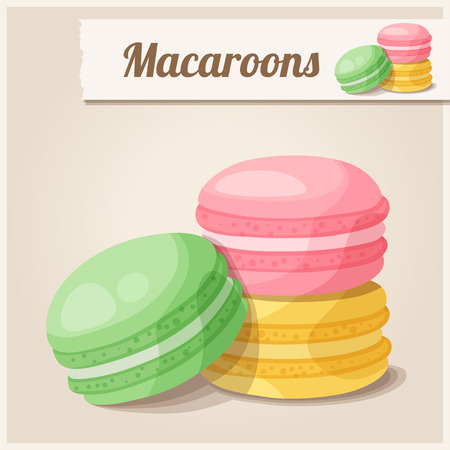 Detailed Icon. Macaroons 矢量图像