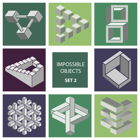2 objects: Impossible objects. Set 2.