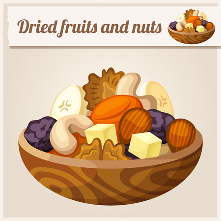 cashew nuts: Detailed Icon. Dried fruits and nuts.