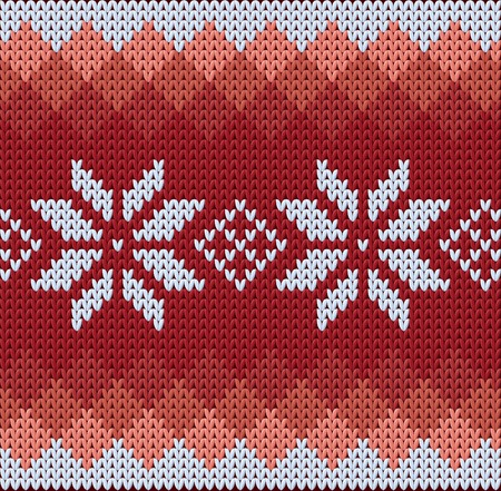 scandinavian christmas: Detailed red pattern with white flowers
