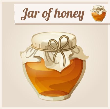 honey liquid: Detailed Icon. Jar of honey.