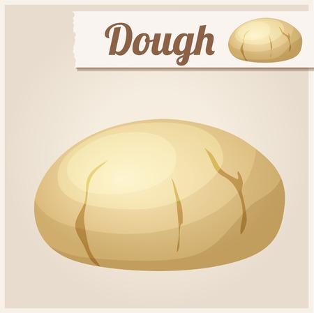 levadura: Dough. Icono detallado del vector. Serie de alimentos y bebidas y los ingredientes para cocinar. Vectores