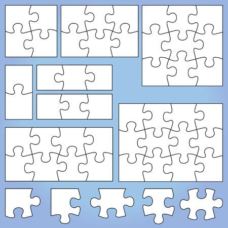 Puzzle set Vettoriali