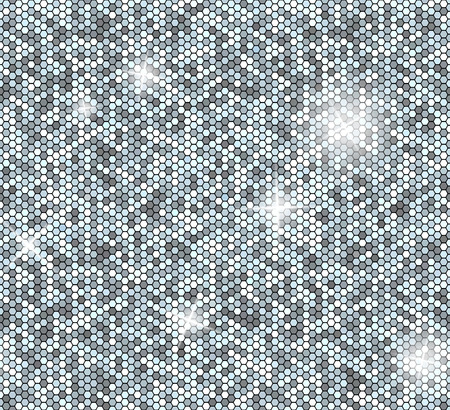 paillette: Silver seamless background with sequins. Glitter vector pattern. Illustration