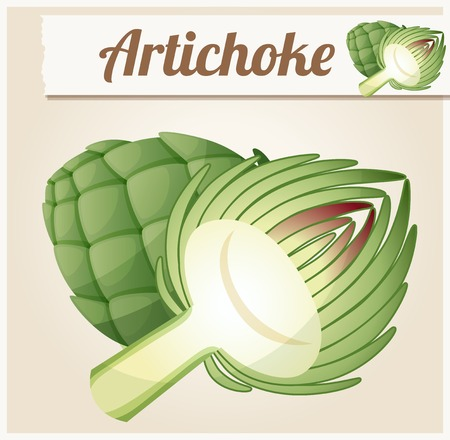 icon series: Artichoke. Detailed Vector Icon. Series of food and drink and ingredients for cooking.