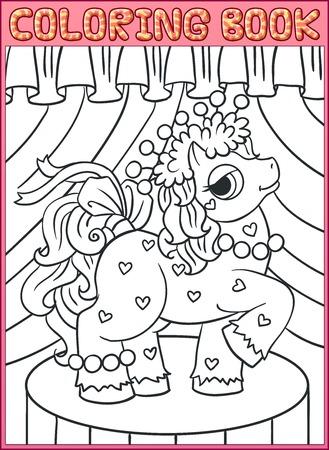 Kleurboek pagina's. Little Mooie Pony
